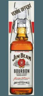 BOURBON JIM BEAM WHITE - GIFT SET METAL