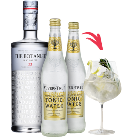 PACK SPECIAL COCKTAIL GIN THE BOTANIST +TONIC WATER FEVER TREE