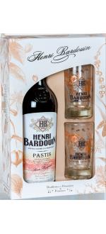 GIFT SET PASTIS HENRI BARDOUIN + 2 GLASSES