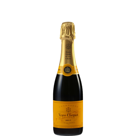 HALF BOTTLE - CHAMPAGNE VEUVE CLICQUOT YELLOW LABEL BRUT