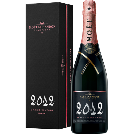 CHAMPAGNE MOET & CHANDON - GRAND VINTAGE ROSE 2012 - EN GIFT SET