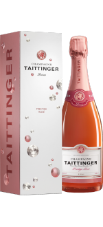 CHAMPAGNE TAITTINGER BRUT PRESTIGE ROSE - IN PRESENTATION CASE DIAMANT