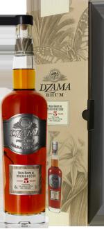 RUM DZAMA - VIEUX RUM 5 YEARS OLD FINITION COGNAC - IN PRESENTATION CASE