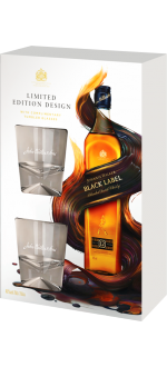 JOHNNIE WALKER BLACK LABEL 12 YEARS OLD - EN GIFT SET 2 GLASSES