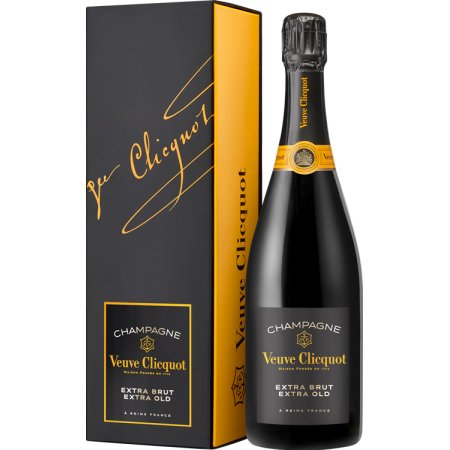 CHAMPAGNE VEUVE CLICQUOT - EXTRA BRUT EXTRA OLD - PRESENTATION CASE