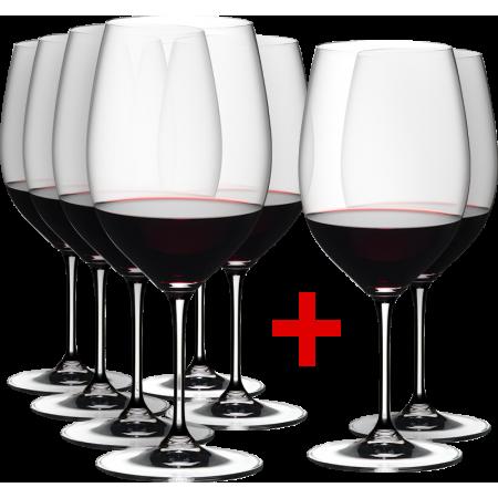 6 GLASSES CABERNET/MERLOT + 2 GLASSES FREE - REF 7416/0 - GAMME VINUM - RIEDEL