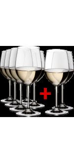 6 GLASSES CHARDONNAY + 2 GLASSES FREE - REF 7416/05 - GAMME VINUM - RIEDEL