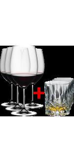 4 GLASSES CABERNET/MERLOT + 4 GLASSES SPEY WHISHY FREE - REF 5888/08 - GAMME VINUM - RIEDEL