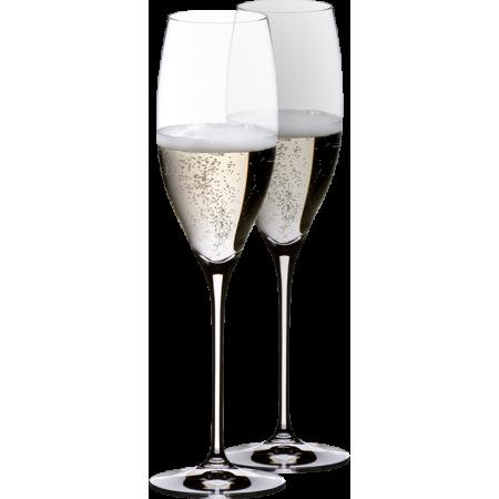 2 GLASSES CHAMPAGNE PRESTIGE - REF 6416/48 - GAMME VINUM - RIEDEL