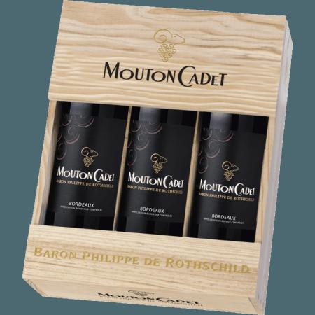 GIFT SET 3 BOTTLES MOUTON CADET 2017 - BARON PHILIPPE DE ROTHSCHILD