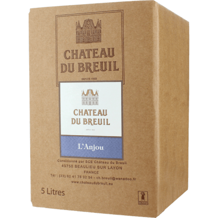 WINE BOX 5L - ANJOU ROUGE 2019 - CHATEAU DU BREUIL