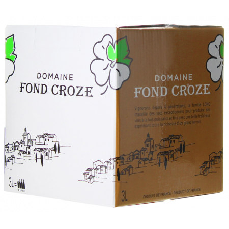 WINE BOX 3L - IGP ROSE 2019 - DOMAINE FOND CROZE