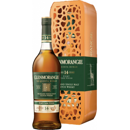 GLENMORANGIE THE QUINTA RUBAN 14 YEARS OLD - EN GIFT SET GIRAFE