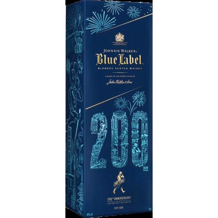JOHNNIE WALKER BLUE LABEL - IN PRESENTATION CASE EDITION LIMITÉE 200 EME ANNIVERSAIRE