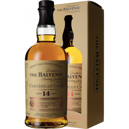 CARRIBEAN CASK 14 YEARS OLD - THE BALVENIE - IN PRESENTATION CASE