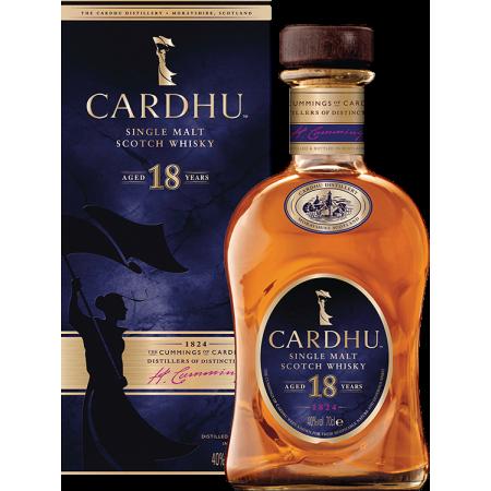 CARDHU 18 YEARS OLD SINGLE MALT - IN PRESENTATION CASE