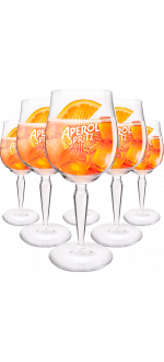 KIT 6 GLASSES APEROL VPC