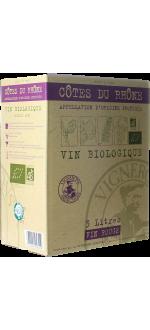 WINE BOX 3L - CÔTES DU RHÔNE BIO - VIGNERONS ARDÉCHOIS