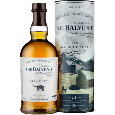 THE BALVENIE - THE WEEK OF PEAT 14 YEARS OLD - IN PRESENTATION CASE