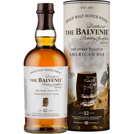 THE BALVENIE - SWEET TOAST OF AMERICAN OAK 12 YEARS OLD - IN PRESENTATION CASE