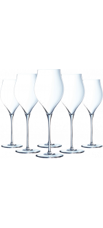 GIFT SET 6 CHAMPAGNE GLASSES - EXALTATION 35 CL - Q0818 - CHEF & SOMMELIER