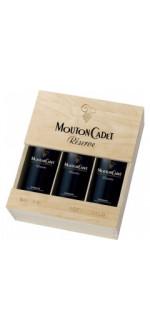 GIFT SET 3 BOTTLES MOUTON CADET RESERVE PANACHE - BARON PHILIPPE DE ROTHSCHILD