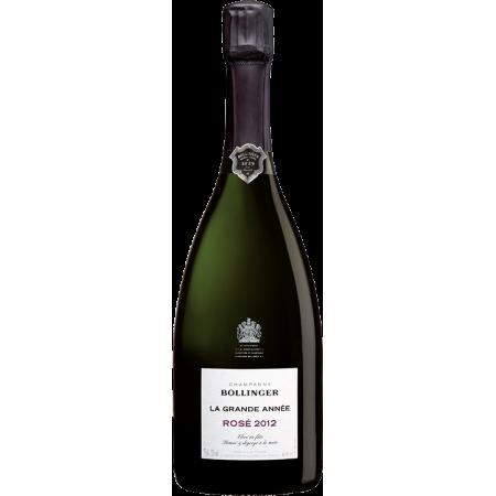 CHAMPAGNE BOLLINGER - LA GRANDE ANNEE ROSE 2012 - IN PRESENTATION CASE