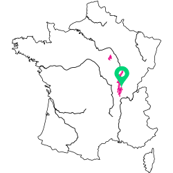 Carte de l'appellation Bourgogne