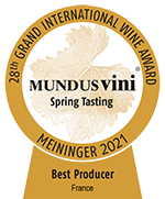 BEST PRODUCER FRANCE - MUNDUS VINI 2021