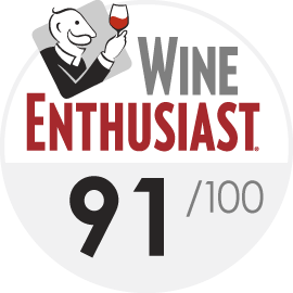 Wine Enthusiast : 91/100